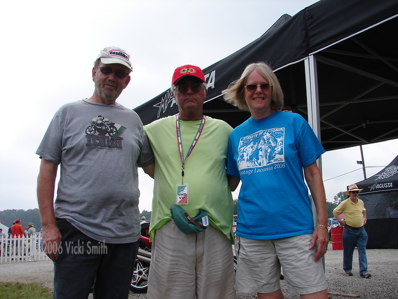 Frank Smith, Guy Webster and Cathy Smith. Some of my Motogiro d'Italia buddies.