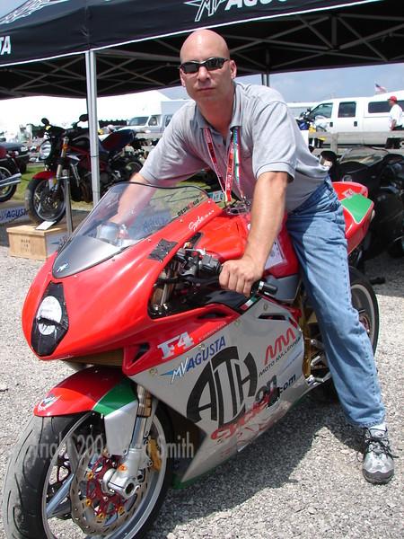 Chris Calovini shows off his customized F4