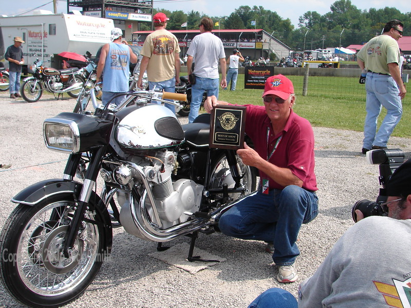 Dale Keesecker takes the overall bike show honors with his absolutely perfect 600 Touring