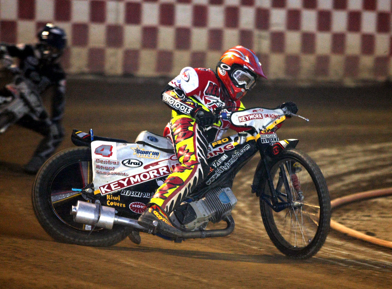 2008 USA National Speedway Champion Billy Janniro in action.