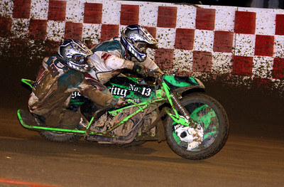 Sidecars made the first of four appearances at Fast Friday's.  Joe Jones and Jimmy Olsen won the main event.