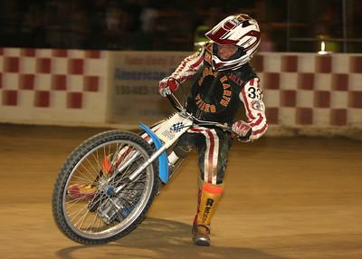 Vintage rider Billy Meister