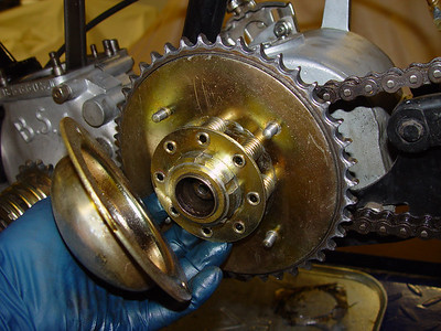 Clutch with cover removed