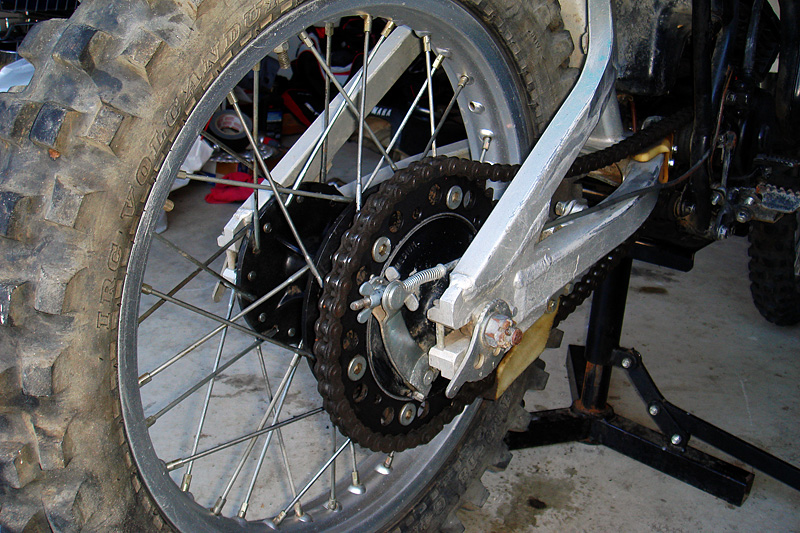rear sprocket and brake assembly.