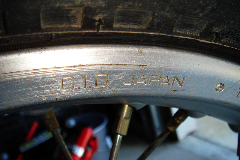 Rear rim stamping from D.I.D..
