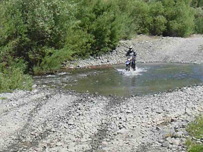 Phillipe at the second water crossing - video