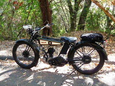 1927 BSA on La Honda Road