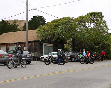 Rigid riders outside the San Gregorio Store