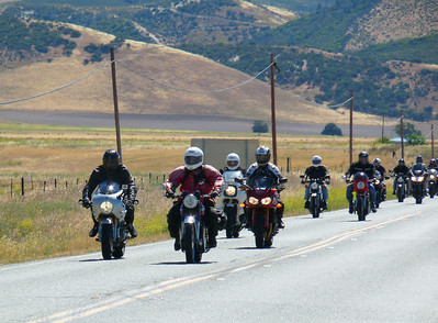 The group approaches San Lucas Rd