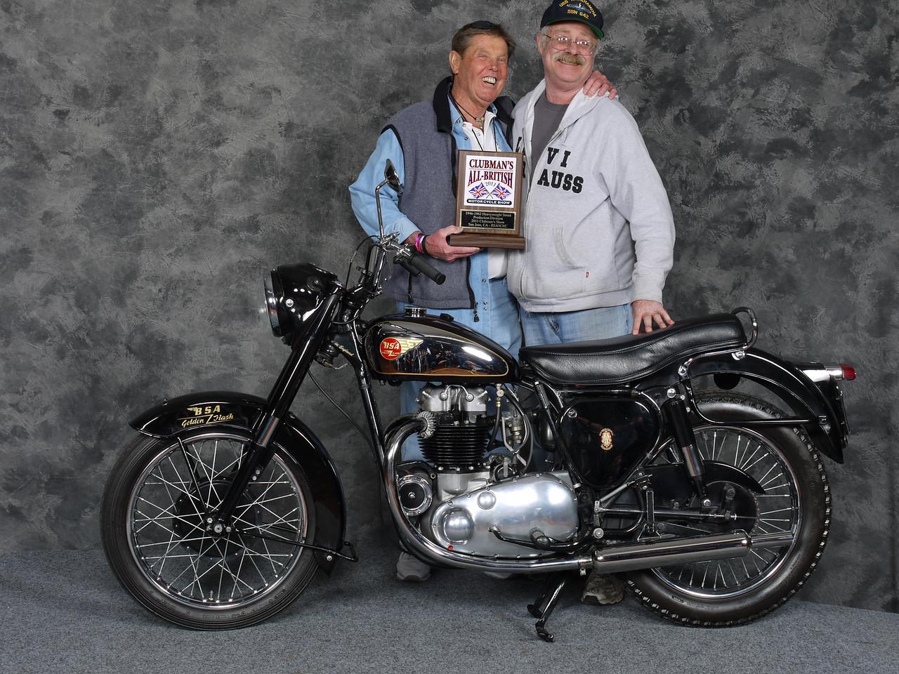 Gary Dodds, Street Heavyweight 1946-1962, Production - 1954 BSA A10 Golden Flash