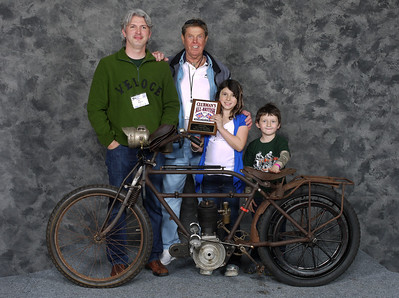 Pete, Sirisvati & Atticus Young, Oldest Bike - 1913 Velocette 500