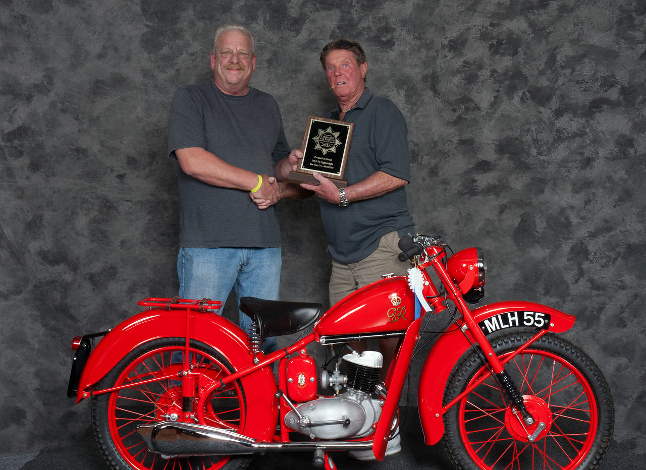 1950	BSA	D1 Bantam GPO	Winner:	Vincent	Schardt	Class: 	Street Lightweight 1946-1962, Production