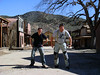 "Getting their ""gunslinger"" stance on at the old west set in Paramount Ranch."