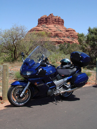 My FJR at Sedona's Bell Rock