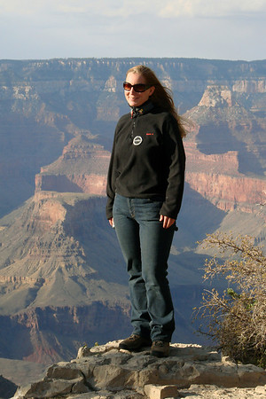Ann-Marie at the Grand Canyon