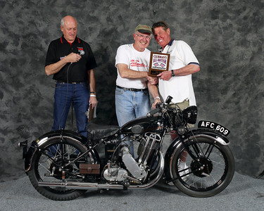 Winner, Mike Crick, Best PreWar / Oldest Bike Award