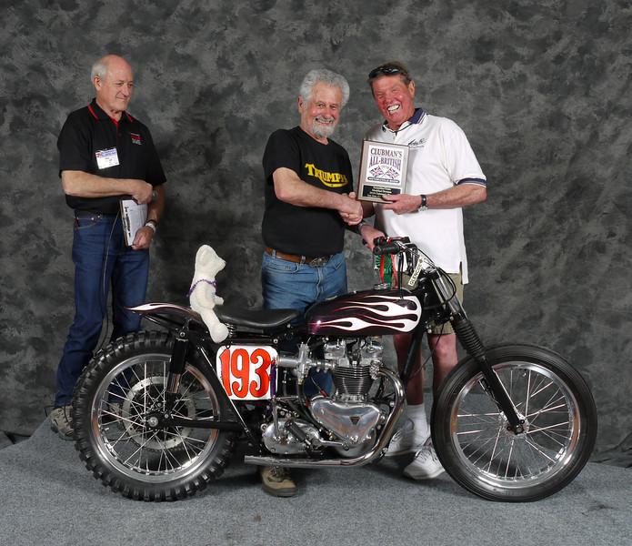 Tony Martin, Trials/Hillclimb/Land Speed 1946-1983, Modified. 1958 Triumph T100 Hill Climber