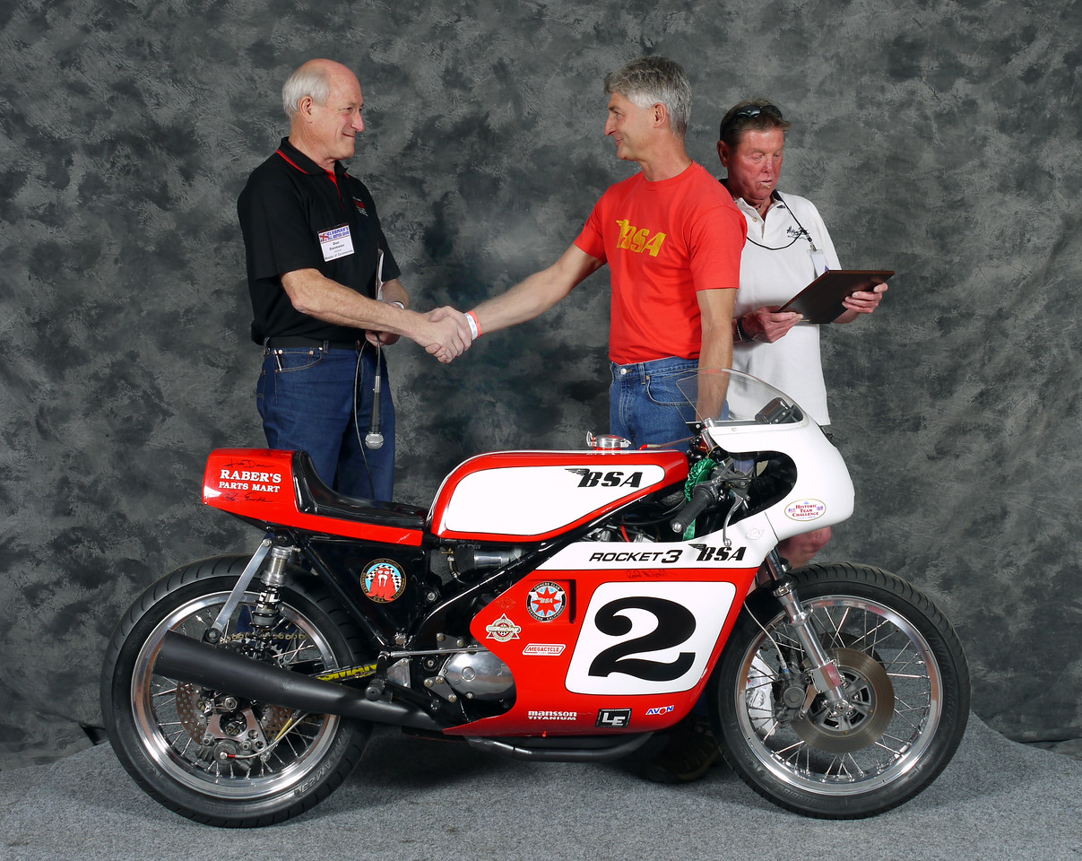 Dave Russell, AHRMA RoadRace,  1970 BSA Rocket 3 factory racer