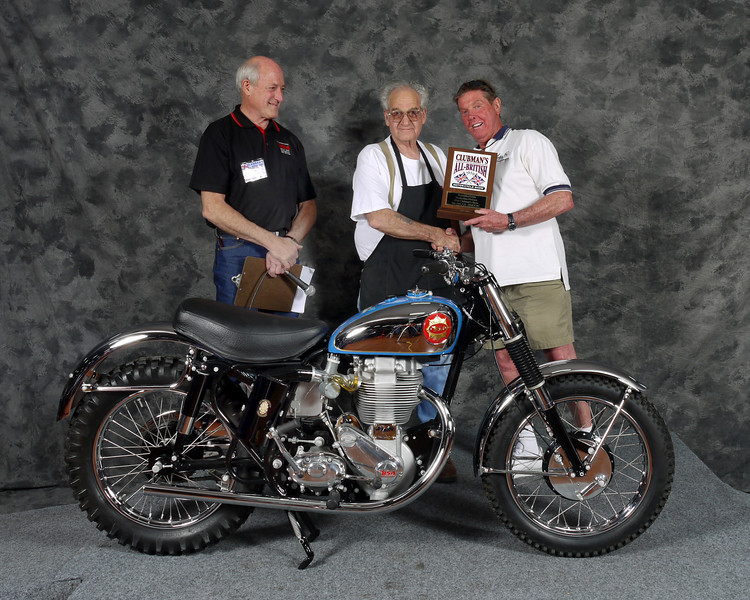 Don Harrell, Scrambles Premier, Production. 1950 BSa Gold Star Catalina