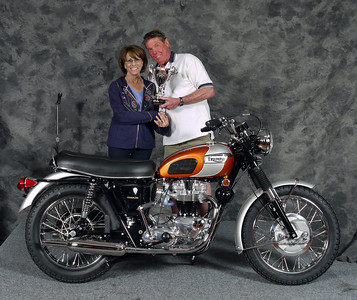 Builder Mike Graziano. People's Choice Award. 1969 Triumph T120 Bonneville
