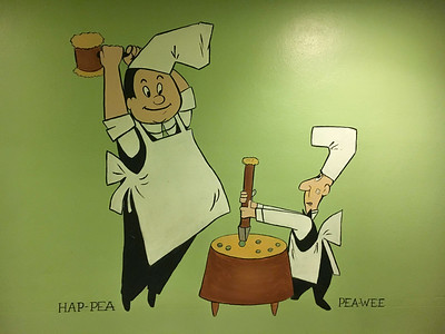 Hap Pea and Pea Wee of Andersen's Pea Soup Inn