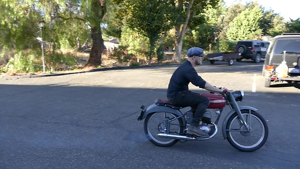 Video of Ben on the '53 MiVal 125cc 2 stroke