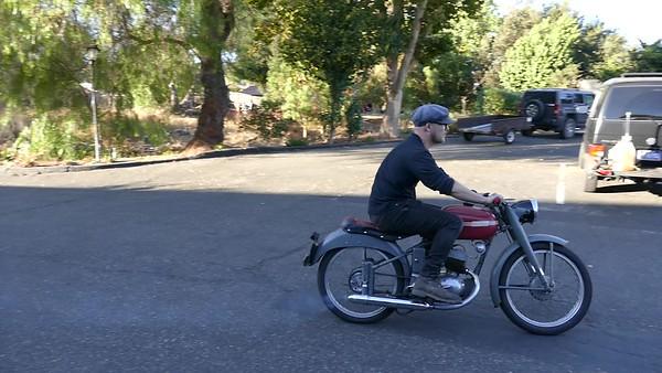 Video of Ben on the '53 MiVal 125cc 2 stroke