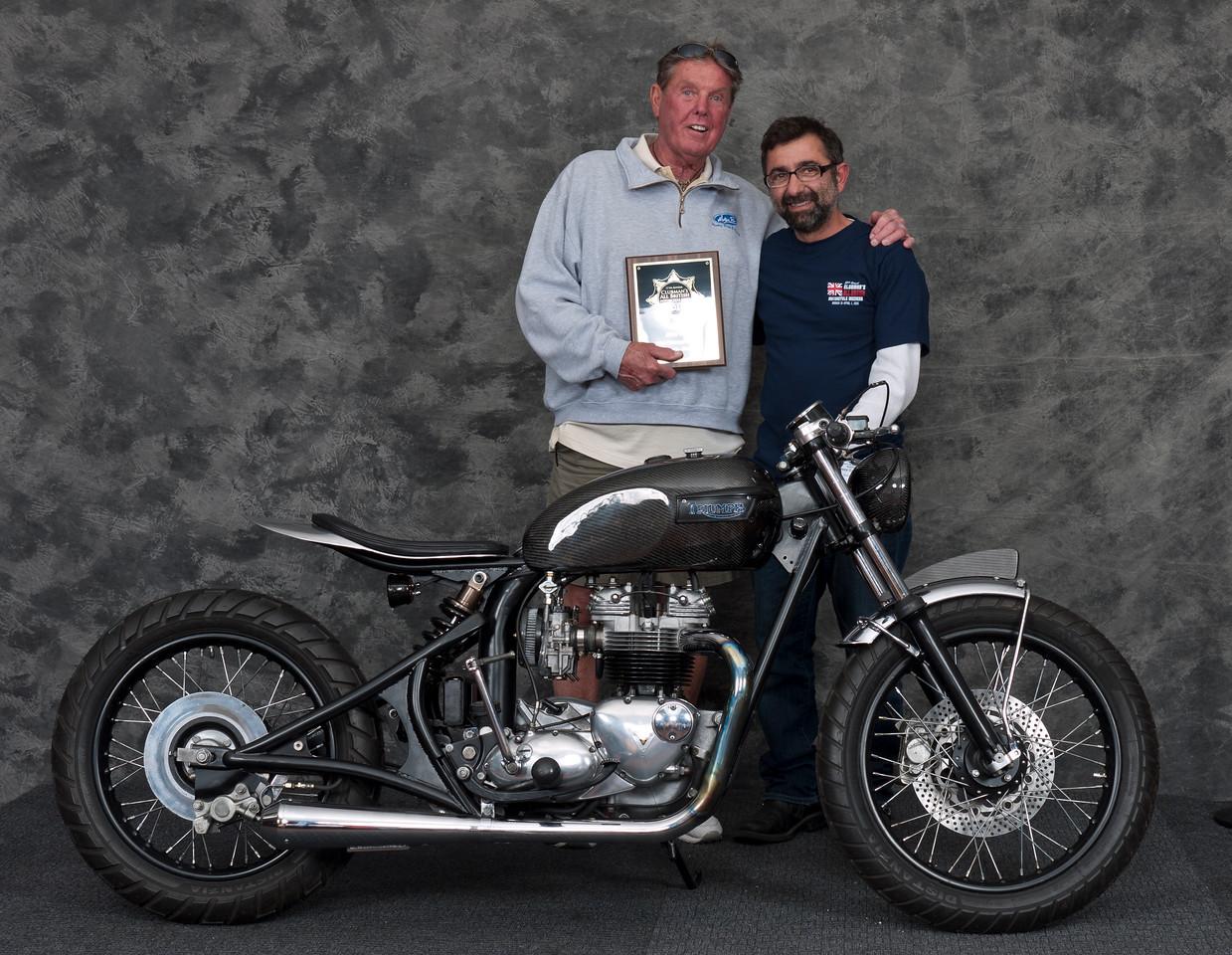 Reza Gohary, 1976 Triumph Bonneville special. Winner, Silver Star Award