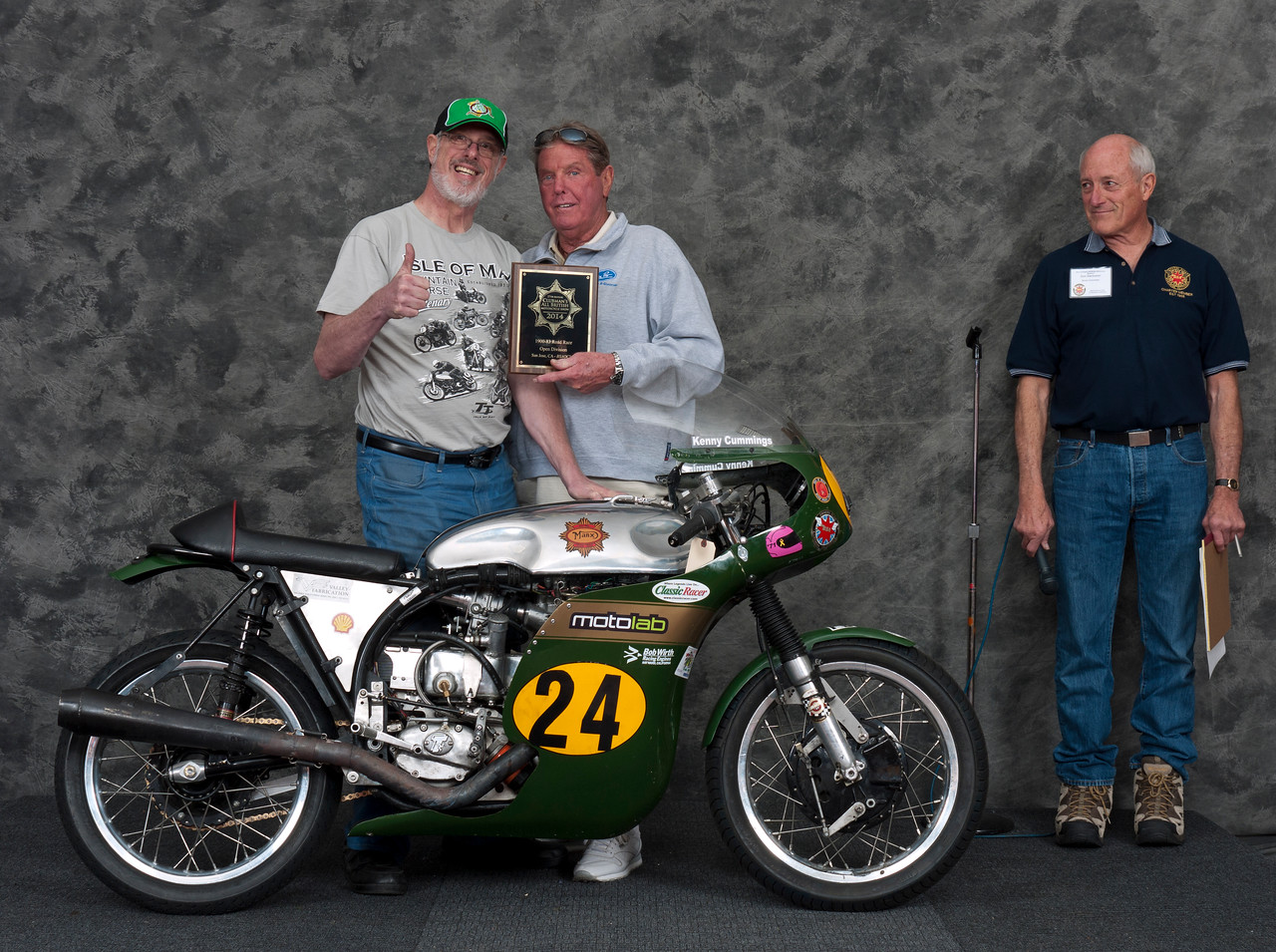 Ron Halem; 1960 BSA Gold Star Manx Racer.  Class: Roadrace, Open