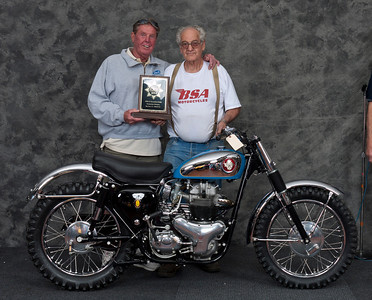 Don Harrell, 1960 BSA Spitfire Scrambler. Class: Scrambles/Trials, Production.