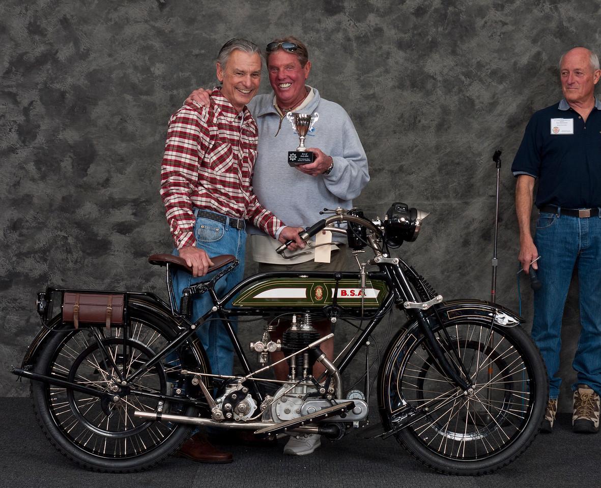 Budd Schwab, 1921 BSA Model H 500cc. Winner  AMCA Best Pre-War