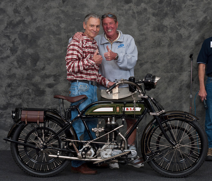 Bud Scwab, 1921 BSA Model H 500cc. Winner Best Pre-war