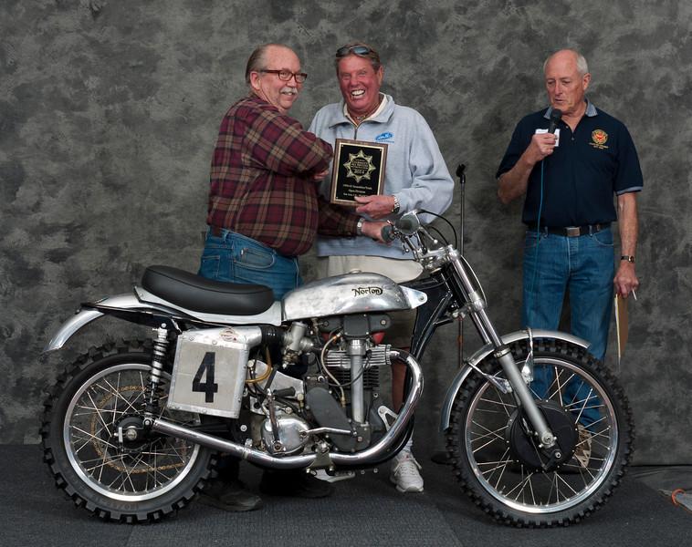 Fred Mork, 1958 Norton Manx Les Archer DOHC. Class: Scrambles/Trials, Open