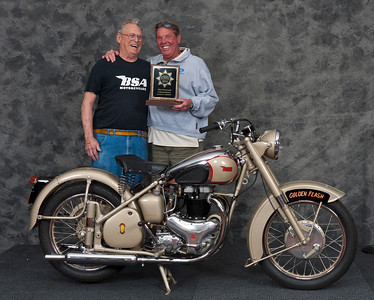 Gerald Richardson, 1951 BSA A10 Golden Flash Western. Class: Street Heavyweight 1946-1962, Production