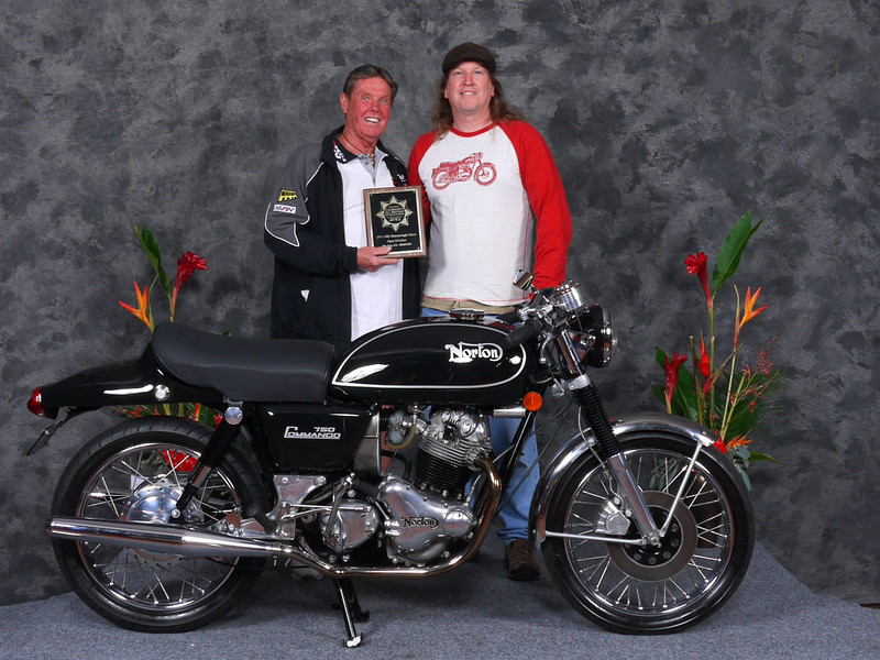 "Tyler	Hammond, Second place ""Street Heavyweight 1971-1983, Open"", 1971 Norton Commando Interstate/Fastback"