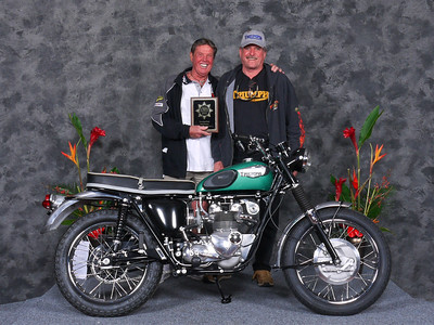 "Doug Bourne, Winner ""Scrambles/Trials, Open"", 1966 Triumph T100SC"