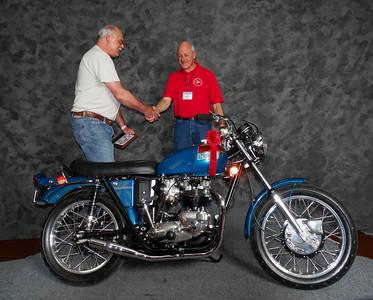 Bob Champagne, Modified/Cafe 1971-1983, ridden, 1971 Triumph T120 Bonneville