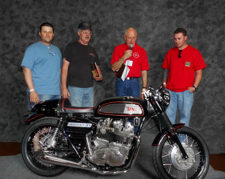 Gary Dodds, Modified/Cafe 1963-1970, ridden, 1969 BSA A75 Rocket 3