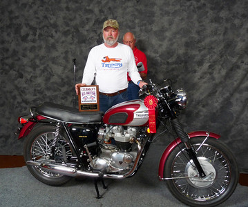 Don Johnson, Honorable Mention, Street Heavyweight 620cc-up 1963-1970, ridden, 1970 Triumph T120R Bonneville
