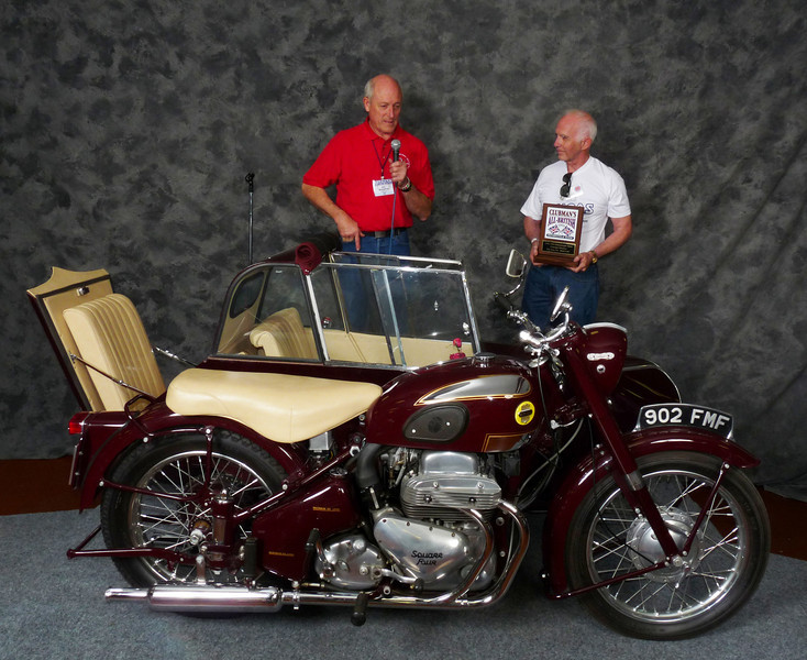 James Shaffer, Street Heavyweight 620cc-up 1946-1962, 1956 Ariel Square Four Outfit