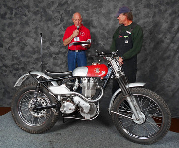 Jeff Scott, AHRMA Competition Trials, 1954 Ariel 350 HT