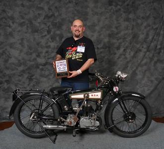 Craig Howell, Winner Street Lightweight to 499cc 1900-1945, ridden, 1927 BSA Model B Deluxe