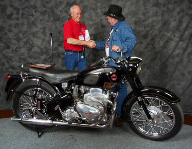 Gary & Connie Stanley, Honorable Mention, Street Heavyweight 620cc-up 1946-1962, 1954 Ariel Square Four