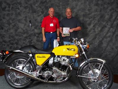 Vincent Schardt,  Honorable Mention, Street Heavyweight 620cc-up 1971-1983, ridden, 1971 Norton Commando 750