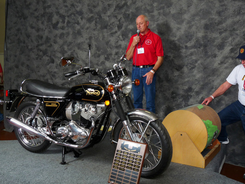 Ray McCurdy won this 1973 Norton Commando in the raffle