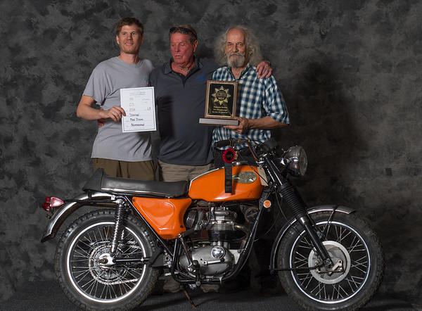Mike Doom , 1969 BSA Starfire,  Winning class: Street Lightweight 1971-1983, Production