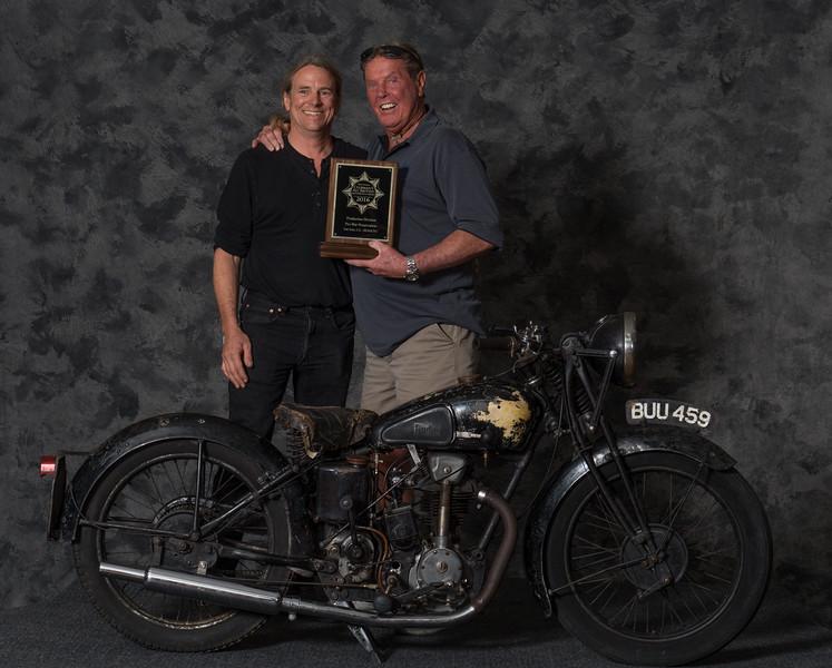 Ron Baxter,  1935 Rudge Tourist, Winning class:  Preservation 1900-1945, PreWar Production & Voted Best Rudge