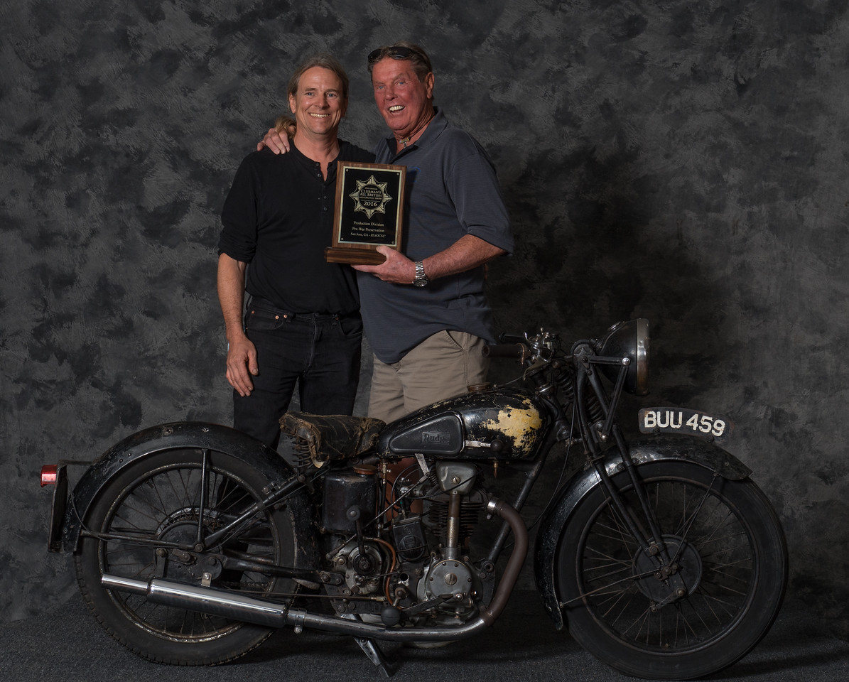 Ron Baxter,  1935 Rudge Tourist, Winning class:  Preservation 1900-1945, PreWar Production & Voted Best Rudge