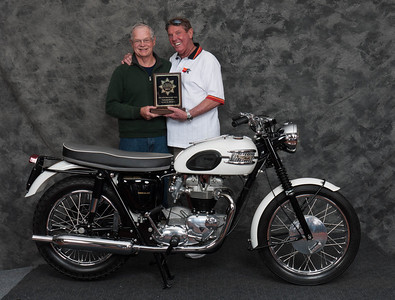 Mike Crick, Winner of Street Heavyweight 1963-1970 Production Class - 1963 Triumph Bonneville