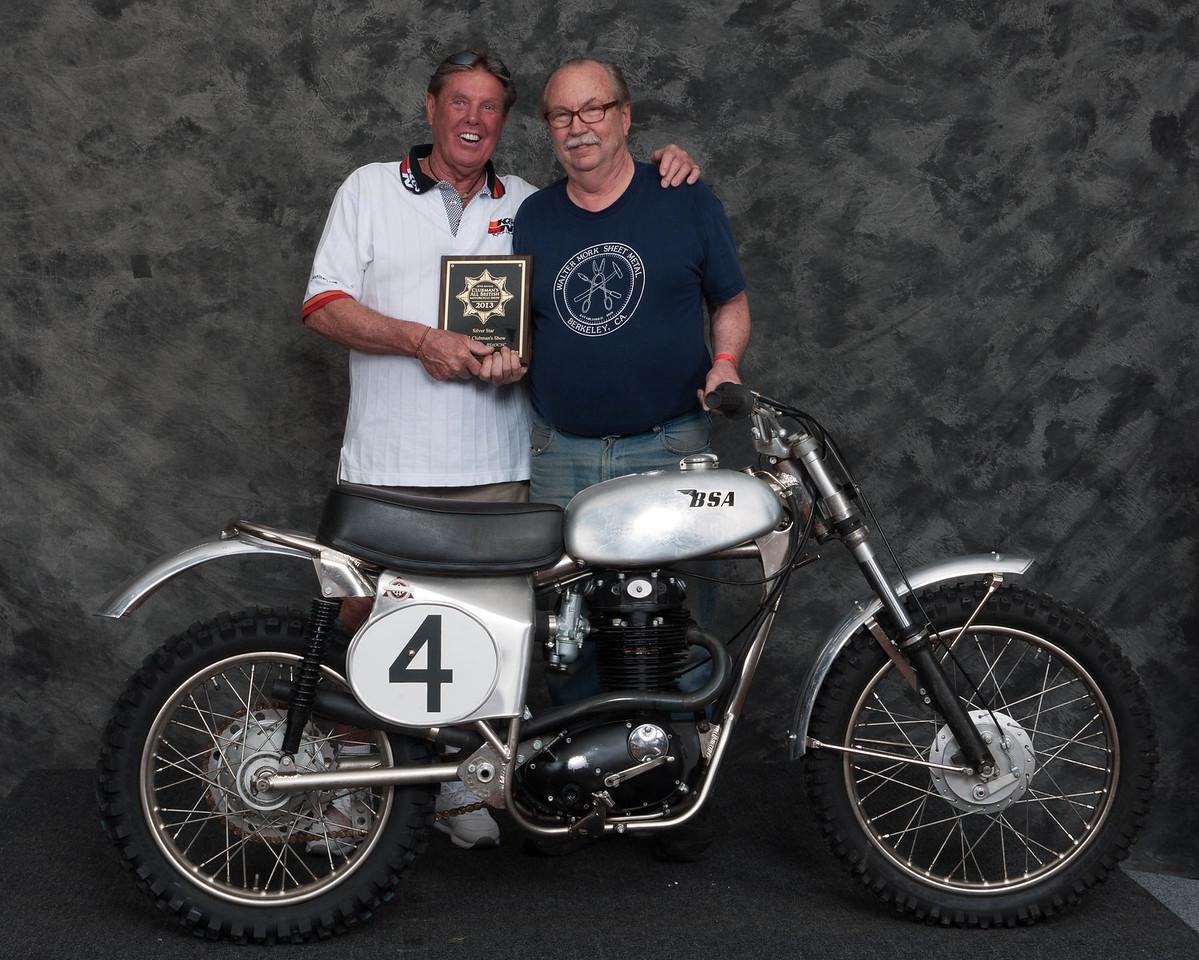 Fred Mork, Winner of Honorable Mention / Silver Star Award - 1967 BSA Ex Jeff Smith Motocrosser
